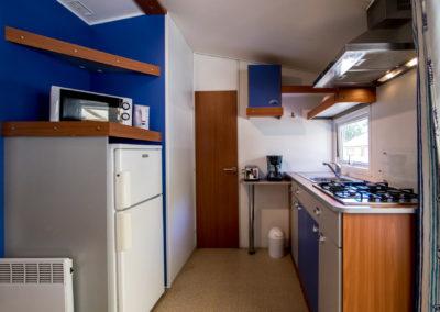 intérieur Mobil-home 2 chambres, pouvant accueillir 4 personnes